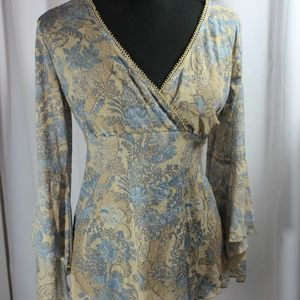 Self Esteem Large Blouse with bell sleeves
